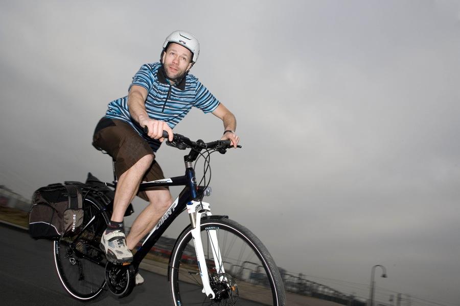 Test von Trekkingrädern mit Scheibenbremse, hier das Giant Aspiro RS1. Foto: Gleitsmann
