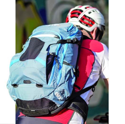 Evoc Trail: Rückenschützer – nicht nur für Mountainbiker. Foto: Dorina Volkhausen.
