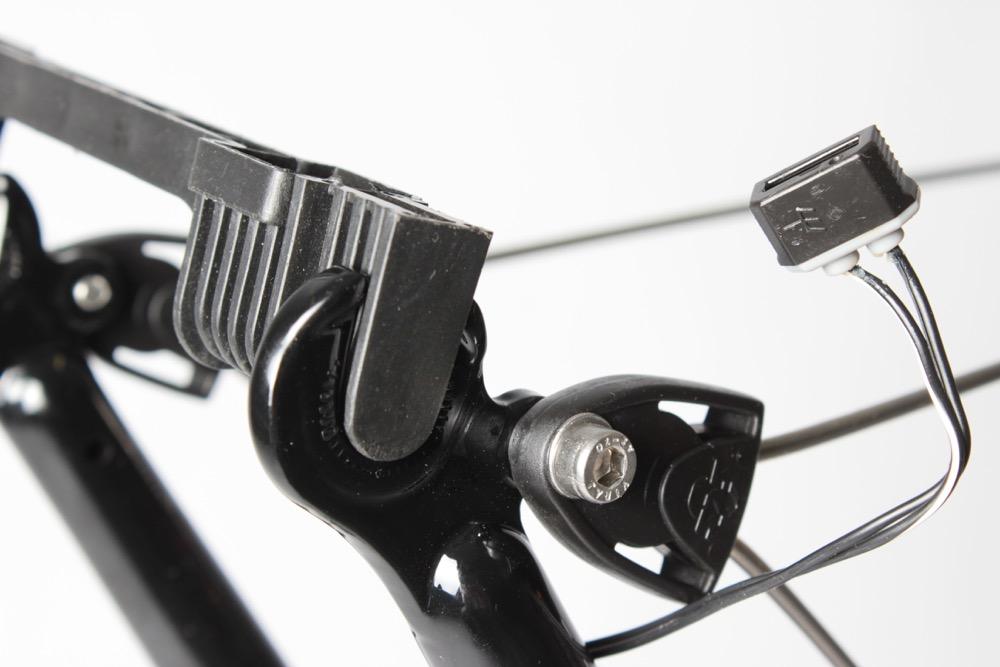 Radschutz durch Platzhalter für die Fahrradachsen