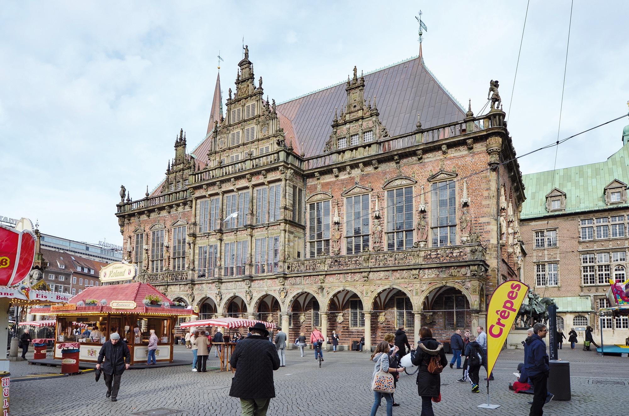 Freimarkt am Bremer Rathaus.